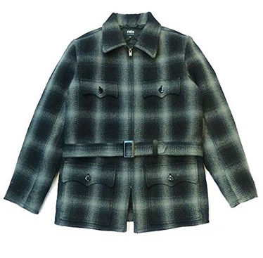 RATS/40'S OMBRE CHECK MELTON COAT