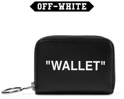 Black Quote Zip Wallet