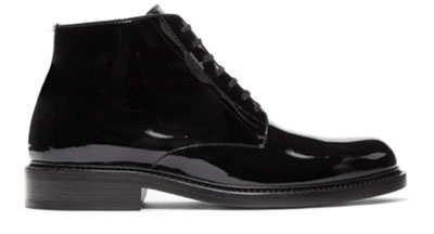 Saint Laurent/Black Army Lace-Up Boots