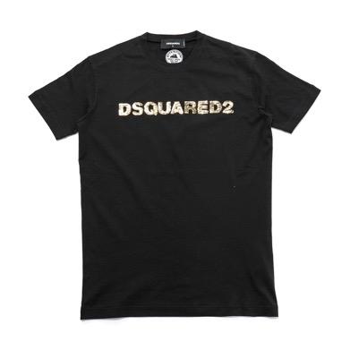 スパンコールロゴクルーネック半袖Tシャツ
