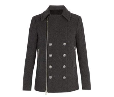 Balmain/Wool duffel coat