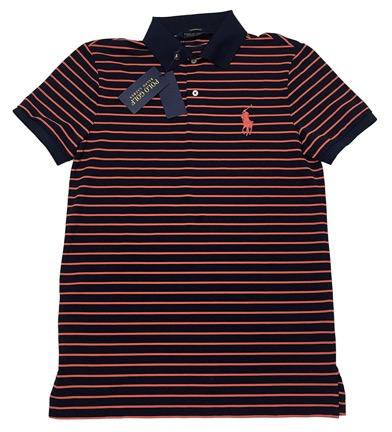 ストライプパフォーマンスピケ半袖ポロシャツ