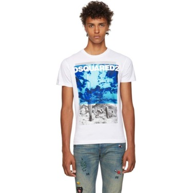 White Chic Dan Graphic T-Shirt
