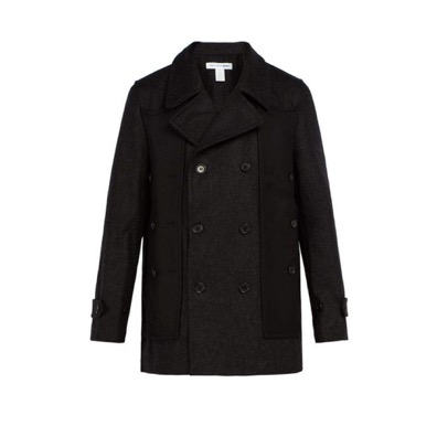 Comme des Garcons/Double-breasted wool coat