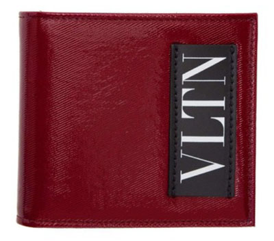Red Valentino Garavani Logo Bifold Wallet