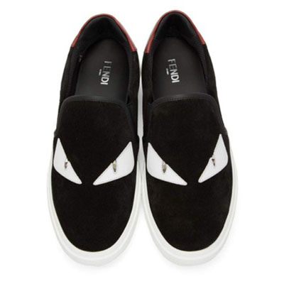 Black & White Suede 'Bag Bugs' Sneakers