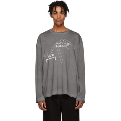 Grey 'National Gallery' Long Sleeve T-Shirt