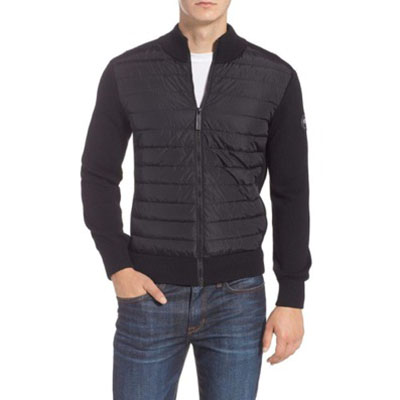 Hybridge Slim Fit Down Front Knit Jacket