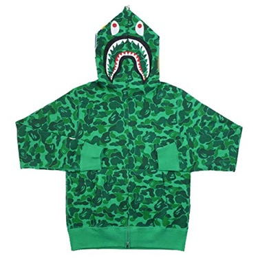 A BATHING APE/SHIBUYA CAMO SHARK FULL ZIP HOODIE