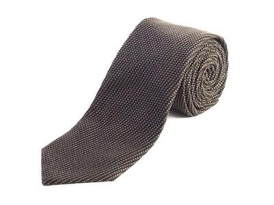 Silk Woven Tie Black