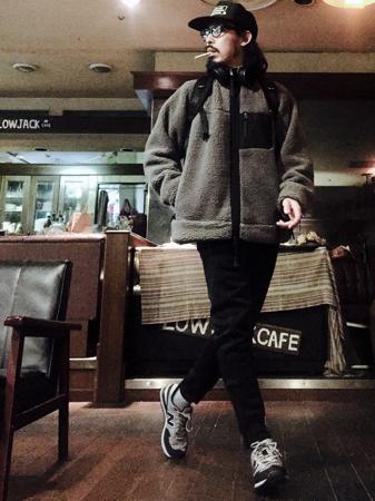 ボアフリースジャケット コーデ