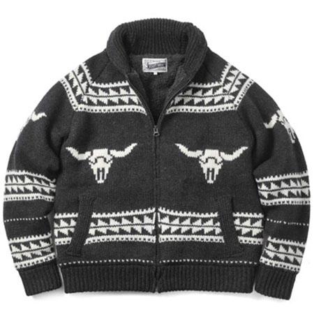 Schott/ボアラインドカウチンジップセーター