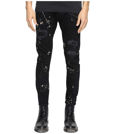 DSQUARED2/ Five-Pocket Acid Black Wash Jeans
