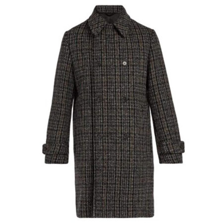 Stella McCartney/Houndstooth wool-blend coat