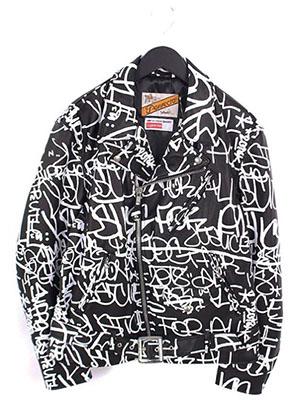 SUPREME ×COMME des GARCONS SHIRT 【Painted Perfecto Leather Jacket】×Schott