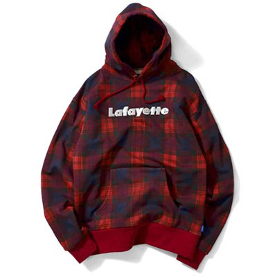 LOGO PLAID PULLOVER SWEATSHIRT