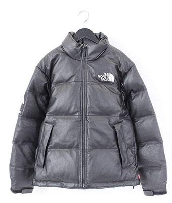 SUPREME ×ノースフェイス【Leather Nuptse Jacket】オールレザーヌプシダウンジャケット
