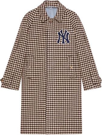 GUCCI/ニューヨークヤンキースパッチハウンドトゥースコート