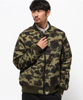 WIND STOPPER 1ST CAMO BOMBER JACKET