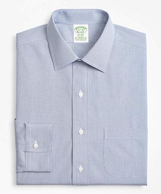 Brooks Brothers/ノンアイロンストレッチコットン マイクロウィンドウペインドレスシャツ Milano Fit