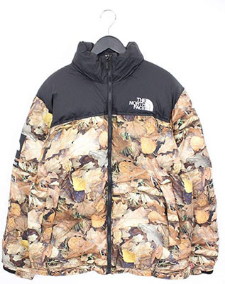 SUPREME ×ノースフェイス 【Nuptse Jacket】リーフカモ柄ヌプシダウンジャケット