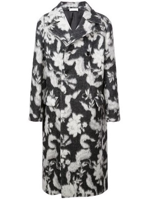 Jil Sander/long floral pattern coat
