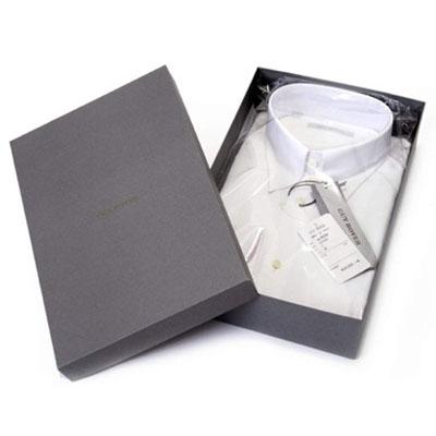 GUY ROVER/WHITEコットンピンオックス/タブカラーシャツ