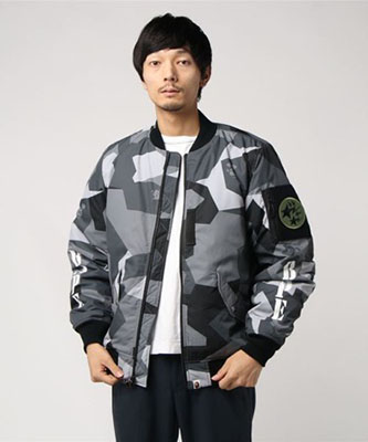 SPLINTER CAMO LIGHT BOMBER JACKET