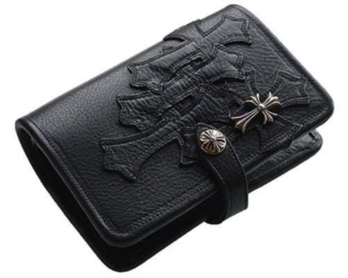 CHROME HEARTS/LEATHER AGENDA CROSS