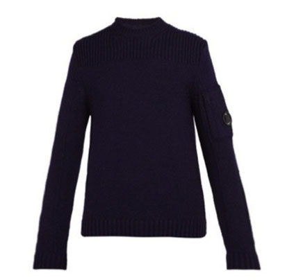 C.P. Company/Lens-trim wool-blend sweater