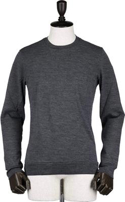 GIRELLI BRUNI/ヴァージンウール ハイゲージ クルーネックセーター