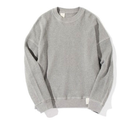 N.HOOLYWOOD/CREW NECK PULL OVER CUT&SAWN