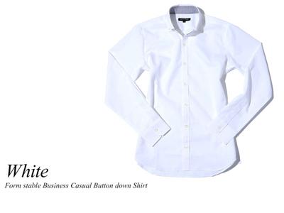 形態安定ビジネスカジュアルボタンダウンシャツ