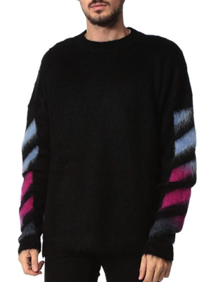 OFF-WHITE/BRUSHED MOHAIR