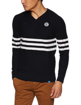 adidas golf/Adicross 3ストライプVネックセーター