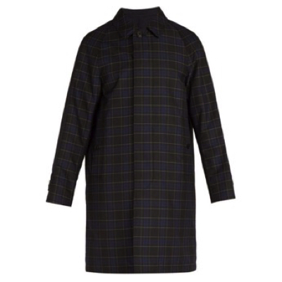 Burberry/Reversible checked car coat