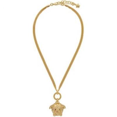 Gold Medusa Pendant Necklace