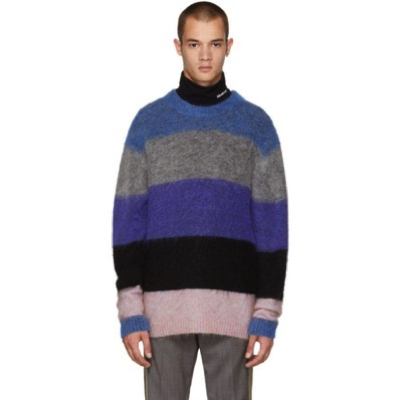 Acne Studios/Blue & Grey Mohair Albah Sweater