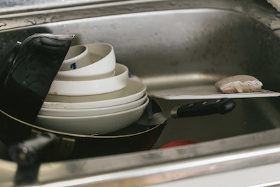 洗っていない食器