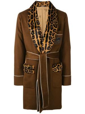 Dolce&Gabbana/レオパード ローブコート