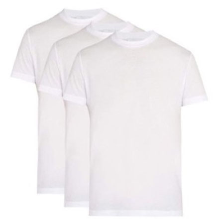 Prada/Pack of three cotton T-shirts