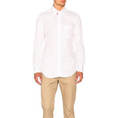 Thom Browne/lassic Poplin Button Down with Ribbon Placket