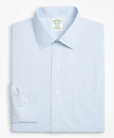 Brooks Brothers/ノンアイロン ストレッチコットンマイクロストライプドレスシャツ