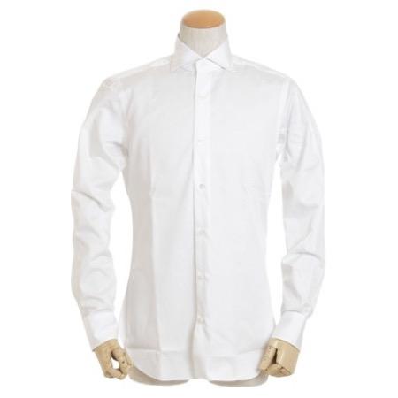 BARBA/ワイドカラー ドレスシャツ