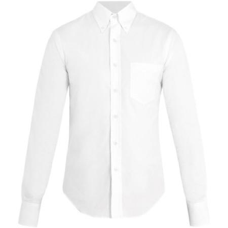 Prada/Single-cuff cotton-oxford shirt