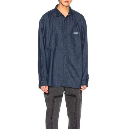 VETEMENTS/Oversized Inside Out Denim Shirt