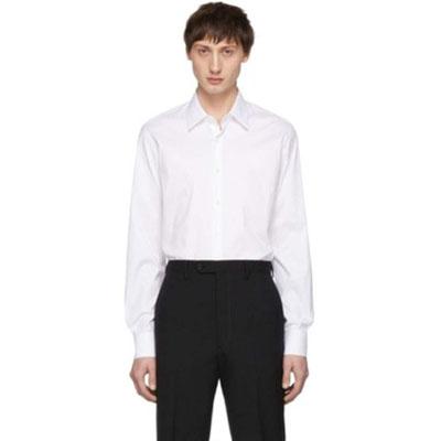 Prada/White Stretch Poplin Shirt