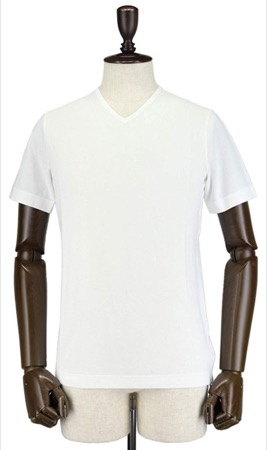 ZANONE/アイスコットンVネック半袖Tシャツ