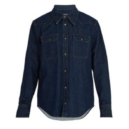 CALVIN KLEIN/Archive Western embroidered denim shirt