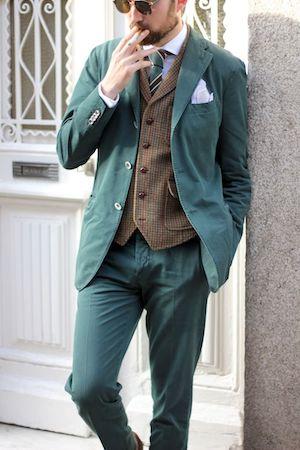ブラウンベスト スーツ